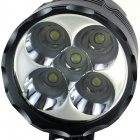 ZHISHUNJIA ZSJ-B50A LED 3-Mode 3800lm White Bicycle Light - Grey (4 x 18650)