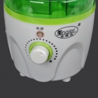 Anqier JS-10 25W Ultrasonic Mineral Bottle Water Humidifier - White + Green (AC 220V)