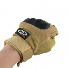 OUMILY Outdoor Tactical Full-Finger Gloves - Khaki + Black (Size M / Pair)