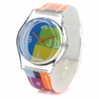 S02 Children's Fashionable Analog Quartz Sport Wrist Watch - Multicolored + Transparent (1 x 377)