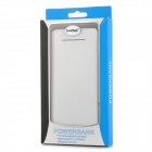 "S-What N900 Universal Dual USB 5V ""10000mAh"" Li-ion Polymer Battery Power Bank - White + Light Blue"
