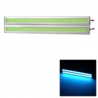 JRLED 6W 100lm 485nm 84-COB LED Blue Car Daytime Running Lights - Green + Silver (2 PCS / 12V)