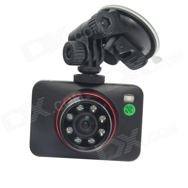 "TENYING H.264 2.7"" TFT 3.5MP caméra CMOS 170 grand angle voiture DVR w / g-capteur, 8-IR conduit, av-out, HDMI"