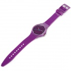 47089 Men's Rubber Wristband Analog Quartz Sport Wrist Watch - Purple (1 x 626)
