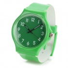 S50G Casual PVC Wristband Analog Quartz Sport Wrist Watch - Green (1 x SR626SW)