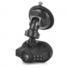 "HD 1.4"" LTPS 1080P 5.0MP Wide Angle 12-LED IR Night Vision CCD Camcorder DVR - Black"