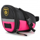 INBIKE B576 Convenient Cycling PU + Oxford Fabric Saddle Bag - Black + Pink