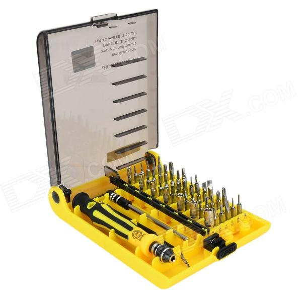 JACKLY 6089A Metal Disassemble Screwdriver Repair Tool Set w/ 35 Bits