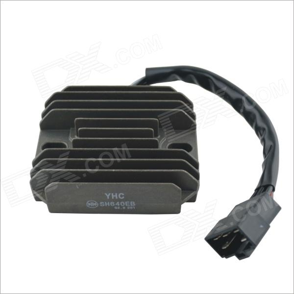 YHC-SH640EB Universal Motorcycle Single Joint Body & Frame Plastic Rectifier Voltage Regulator yhc sh678a 12 universal motorcycle body