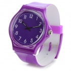 S50G Casual PVC Wristband Analog Quartz Sport Wrist Watch - Purple (1 x SR626SW)