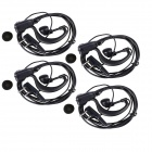 HW01 Professional 3.5mm + 2.5mm Earphone w/ Clip for Most of Walkie Talkies - (4 PCS / 145cm-Cable)