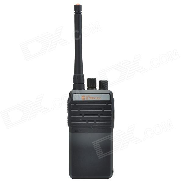 Wecan T6 5W16-Channel 400-470Mhz Multifonction Professional FM Walkie Talkie - Black