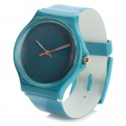47089 Men's Rubber Wristband Analog Quartz Sport Wrist Watch - Greenish Blue (1 x 626)