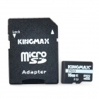 KINGMAX Micro SDHC Pro / TF Memory Card w/ SD Card Adapter - Black (16GB / Class 10)