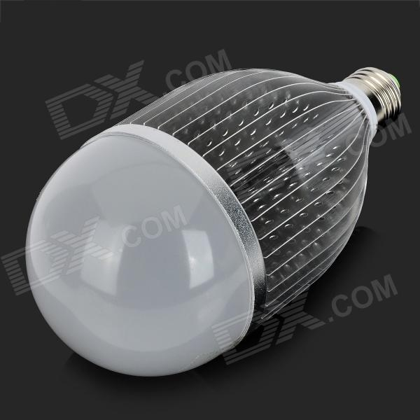 FY 023 E27 18W 18-LED Bulb Shell Case - Silver + White (12~268V)