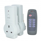 Tai Shen TS-868 2-in-1 230V 13A 2900W UK Plug Remote Controlled Smart Home Sockets Set - White