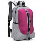 LKLR 001 Outdoor Sports Nylon Backpack - Pink + Grey (25L)