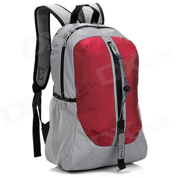 LKLR 001 Outdoor Sports Nylon Backpack - Red + Grey (25L)