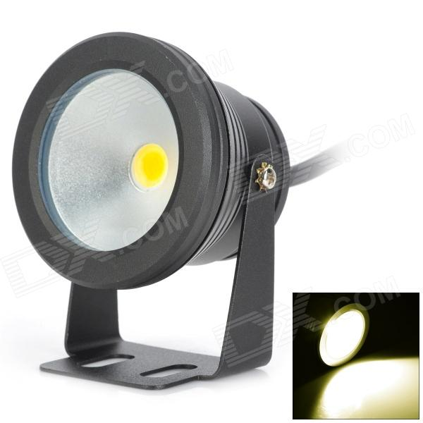 10W 600lm 3000K 1-LED Warm White Underwater Lamp - Black (DC 12~24V)