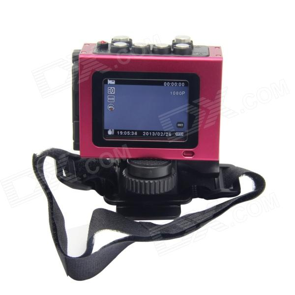 цена на TENYING Waterproof 2..0 TFT 3.5 MP 1080PHD Sports Cycling Diving DVR w/ HDMI, TF, AV-Out - Red