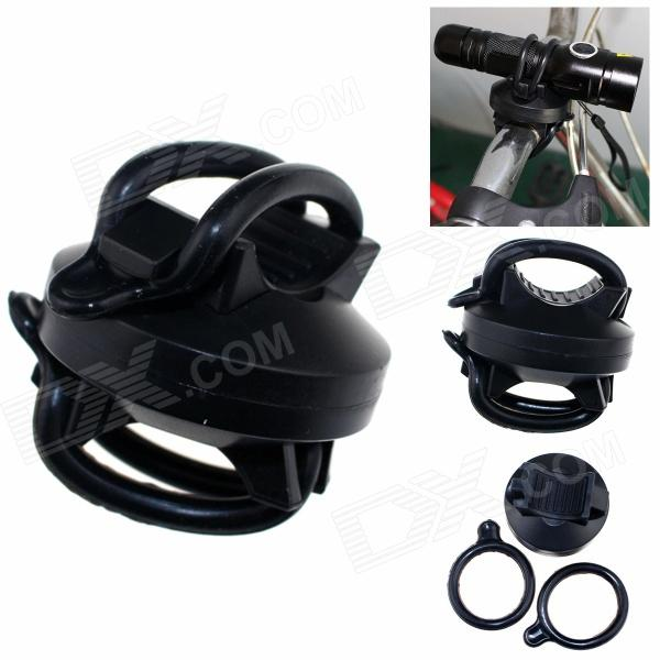ZHISHUNJIA 360-002 360 Degree Rotation Universal Bicycle Flashlight Clip - Black