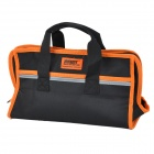 Jakemy JM-B01 Oxford Fabric + Synthetic Leather Tool Storage Bag - Black + Orange (L)