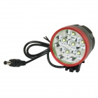 Marsing B60 6-LED 5300lm 3-Mode White Bike Light / Headlamp - Black + Red (6 x 18650)