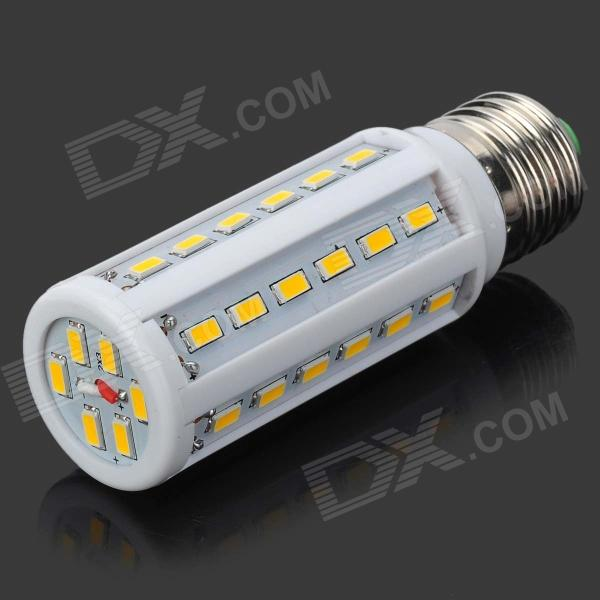 E27 10W 700lm 3500K 42-5730 SMD LED Warm White Lamp - White (AC 220V)