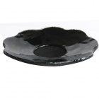 Sexy Breathable Nipple Pad Covers Clear Invisible Circle Stick On Bra Petal - Black (Pair)