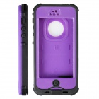 Redpepper HW01 Waterproof Protective Plastic Back Case for IPHONE 5 / 5S - Putple + Black