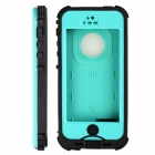 Redpepper HW01 Waterproof Protective Plastic Back Case for IPHONE 5 / 5S - Cyan + Black