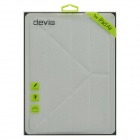 Devia Moge Protective PU Leather Case Cover w/ Special Soft Foldable Stand for IPAD AIR- Pearl White