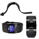 SKMEI 0951 30m impermeable arco digital LED reloj de pulsera - negro (2 x CR1616)