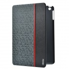Devia Elegant Ball Pattern Protective PU Leather Case Cover w/ Stand for IPAD AIR - Black