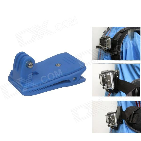 BZ 360' Rotary Backpack Rec-mounts Clip Fast Clamp Mount for Gopro Hero 4/ 3+/3/2/Hero/SJ4000 - Blue colorful striped high waist dress