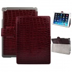 Angibabe Crocodile Pattern PU Leather Case Stand w/ Auto Sleep Cover for IPAD AIR - Brown