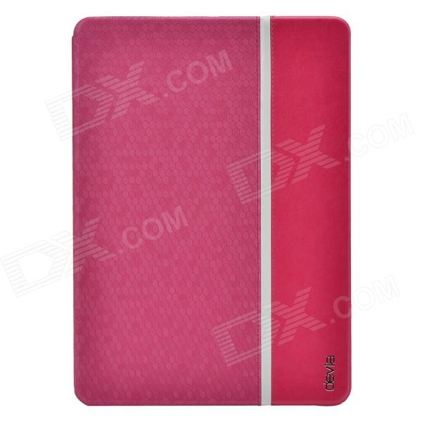 Devia Elegant Ball Pattern Protective PU Leather Case Cover w/ Stand for IPAD AIR - Deep Pink devia pine needle pattern 3 fold protective pu leather case cover w stand for ipad air golden