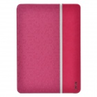 Devia Elegant Ball Pattern Protective PU Leather Case Cover w/ Stand for IPAD AIR - Deep Pink