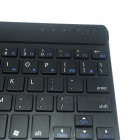 Teclado de 65 teclas BK-972 Mini ultra-fino Bluetooth v 3.0 para IPAD, IPHONE, Samsung Galaxy Tab - preto