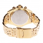 ORKINA Pointer Display Large Dial Stainless Steel Quartz Men's Watch - Golden + Black