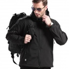 ESDY-0002 Outdoor Sports Water Resistant Polyester Jacket for Men - Black (Size XL)