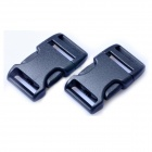 Acecamp 7042 Luggage Strap Belt Clip Plastic Side Release Buckles - Black (2 PCS / 20mm)