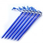 Acecamp 2719 Aluminum Nail Pegs for Outdoor Camping Tent - Deep Blue (23cm / 6 PCS)