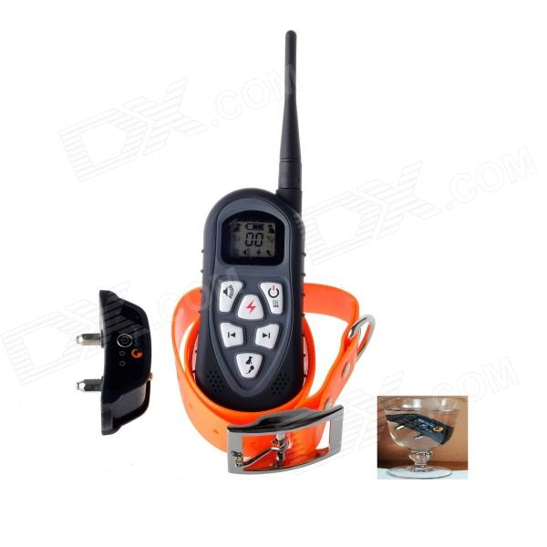 Aetertek AT -219 1000m Submersible LCD 4-in-1 Dog Anti Bark Remote Control Training System - Black