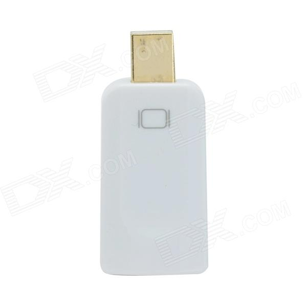 DH-01 Mini Display Port Male DP to HDMI Felmale Adapter - White
