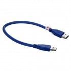 TOP-FLIGHT USB 3.0 A Male to A Male Data Cable for Mobile HDD - Blue (30cm)