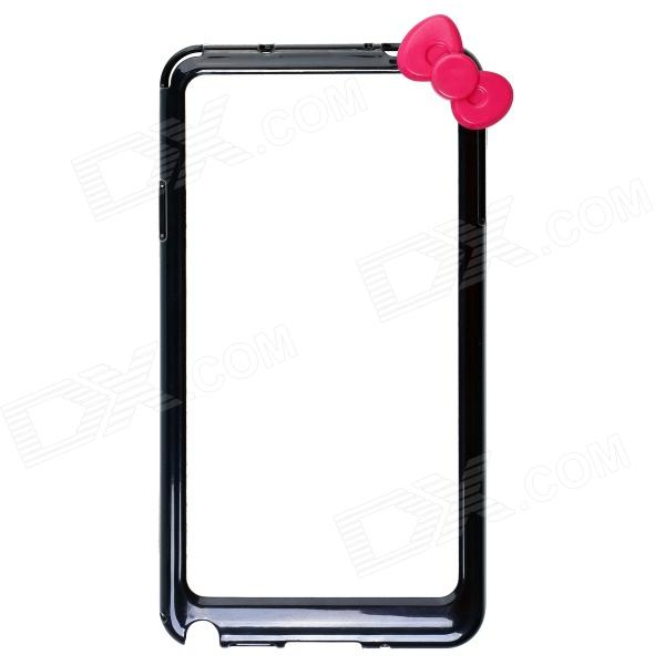 Fashionable Protective Bumper Frame Case with Bowknot for Samsung Galaxy Note 3 / N9000 - Black