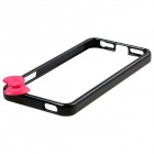 Fashionable Protective PC Bumper Frame Case w/ Bowknot for IPHONE 5 / 5S - Black + Deep Pink