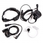 Heavy Duty Military Tactical Throat Mic Headset/Earphone Big PTT for Kenwood Baofeng Quansheng Radio