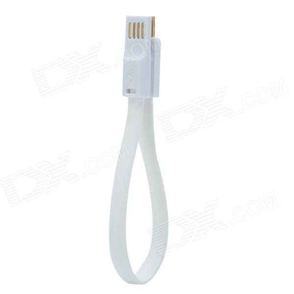 CMI CVB-005 Double-Sided USB 2.0 to V8 Flat Cable w/ Magnet - White